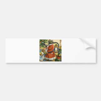 Santa Elephant Celebrates an Animal Christmas Bumper Sticker