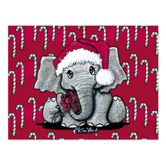 Santa Elephant Christmas Postcards