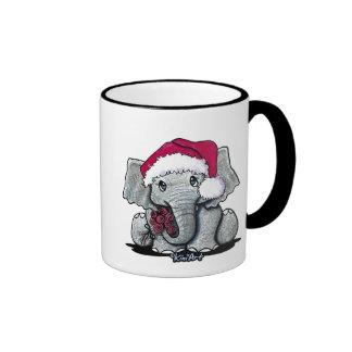 Santa Elephant Mug