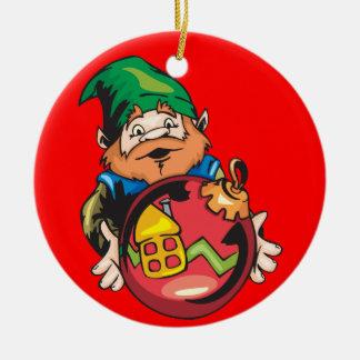 Santa Elf and Ornament