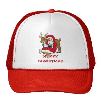 santa elf and reindeer cap