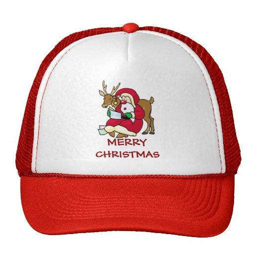 santa elf and reindeer hat