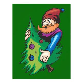 Santa Elf Holding Christmas Tree Flyer Design