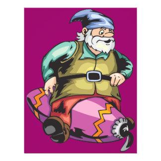 Santa Elf Sitting On Ornament Flyers