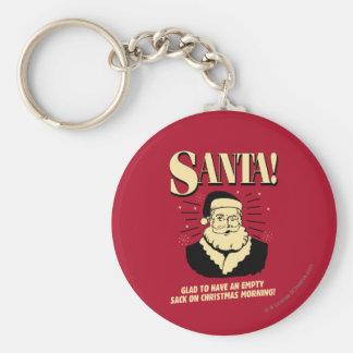Santa: Empty Sack On Christmas Morning Key Ring