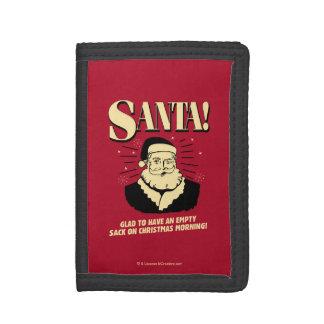 Santa: Empty Sack On Christmas Morning Tri-fold Wallet