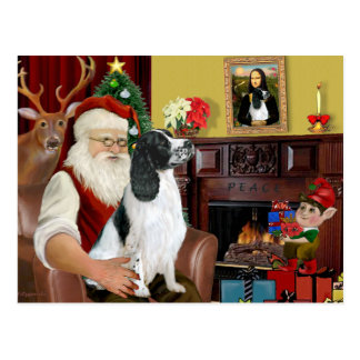 Santa-Engish Springer 7 Postcard