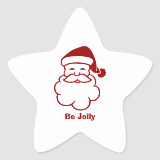 Santa Envelope Seal Star Sticker