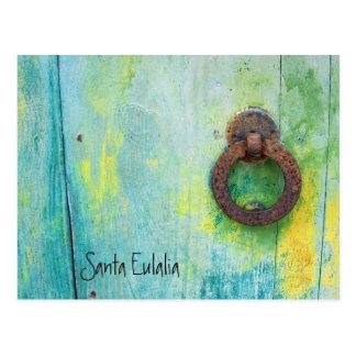 Santa Eulalia - Door Postcard
