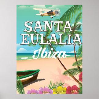 Santa Eulalia Ibiza vintage travel poster