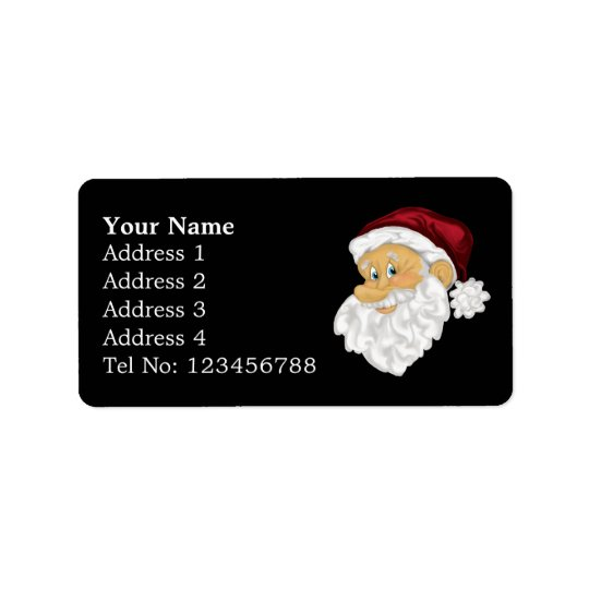 Santa Face Address labels (M)
