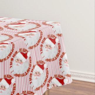 Santa Face Circles, Red Stripes-TABLECLOTH 60x104 Tablecloth