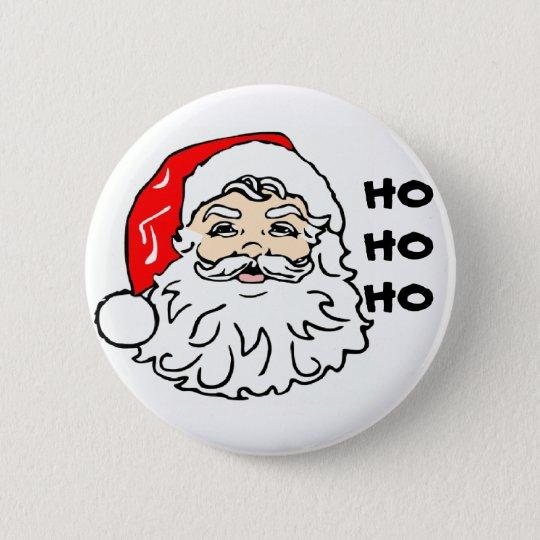 Santa face, HOHOHO 6 Cm Round Badge