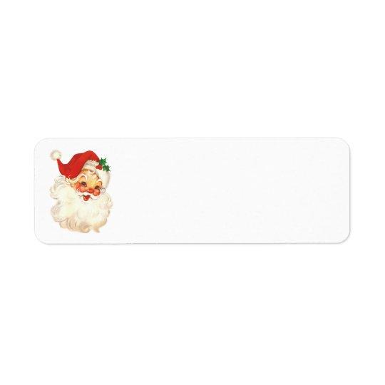santa face vintage address labels