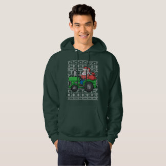 Santa Farmer Tractor Ugly Christmas Sweater