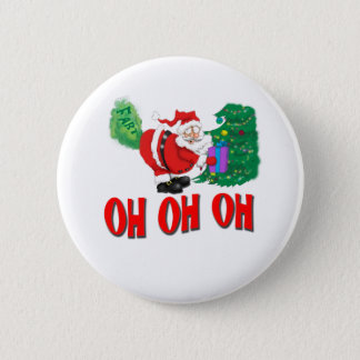 santa farted 6 cm round badge