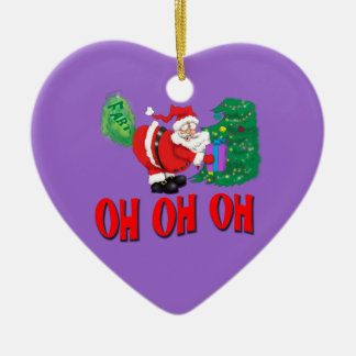 santa farted oh oh oh ornament