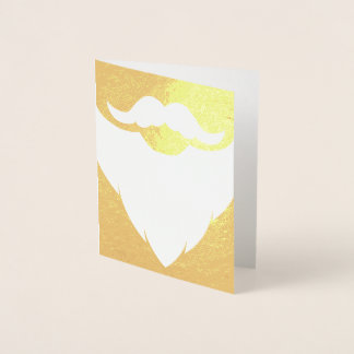 Santa Father Christmas white beard gold card