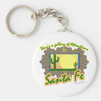 Santa Fe Basic Round Button Key Ring
