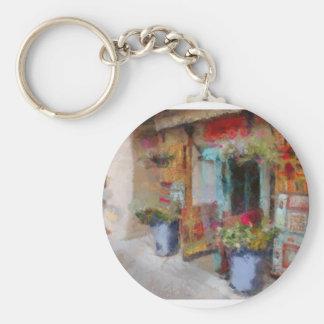 Santa Fe doorway. Basic Round Button Key Ring
