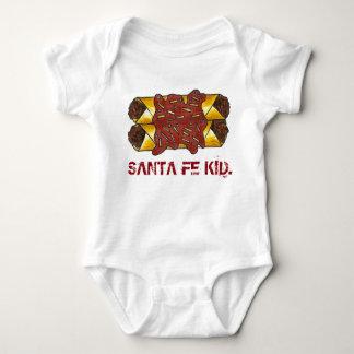 Santa Fe Kid New Mexico NM Enchiladas Foodie Baby Bodysuit