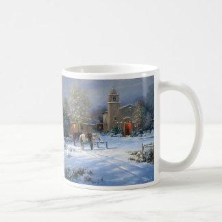 Santa Fe Mission Basic White Mug