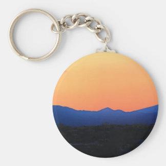 Santa Fe New Mexico Basic Round Button Key Ring