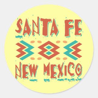 SANTA FE, NEW MEXICO CLASSIC ROUND STICKER
