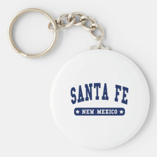 Santa Fe New Mexico College Style tee shirts Basic Round Button Key Ring