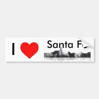 SANTA FE, NEW MEXICO SKYLINE BUMPER STICKER