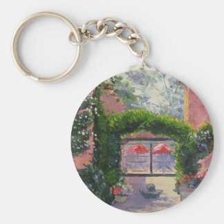 Santa Fe NM oil painting by John French Keychains