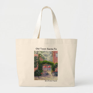 Santa Fe, NM oil painting by John French Large Tote Bag