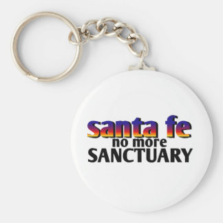 santa fe,no more sanctuary basic round button key ring