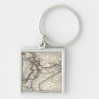 Santa Fe Silver-Colored Square Key Ring
