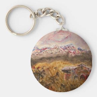santa fe snow basic round button key ring