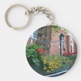 Santa Fe Summer Flowers Basic Round Button Key Ring