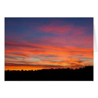 Santa Fe Sunset Greeting Card