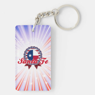 Santa Fe, TX Rectangular Acrylic Keychain