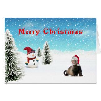Santa Ferret card