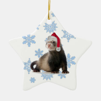 Santa Ferret Christmas Ornament