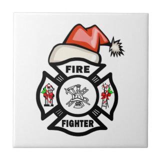 Santa Firefighter Tiles