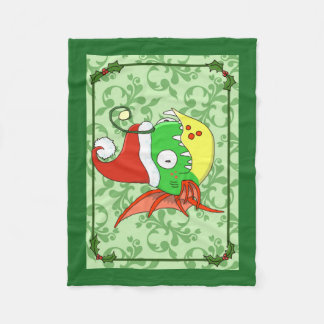 Santa Fishy Fleece Blanket