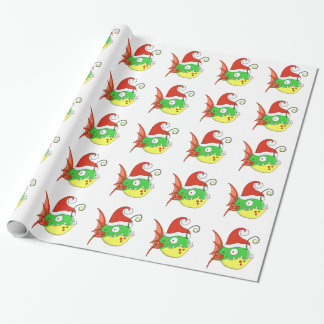 Santa Fishy Wrapping Paper