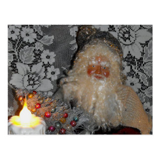 Santa Fixing Tree Postcard