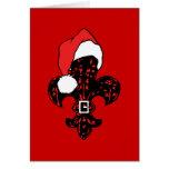 Santa Fleur de lis (1) greeting card