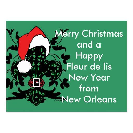 Santa Fleur de lis Postcard
