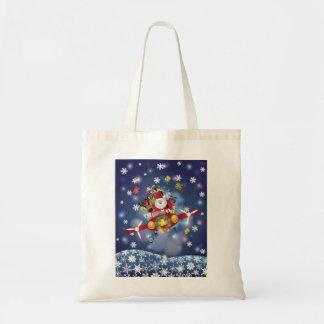 Santa Flying Airplane Bag