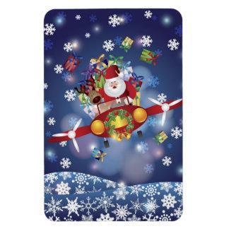 Santa Flying Airplane Premium Flexi Magnet