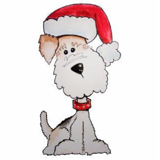 Santa Fox Terrier Photo Sculpture