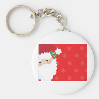 Santa Frame Key Ring